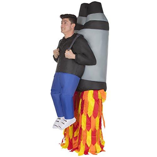 Morph MCROIJP Aufblasbares Kostüm, Unisex, Rakete, Einheitsgröße Erwachsene