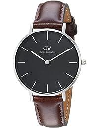 Daniel Wellington Reloj Analógico para Hombre de Cuarzo con Correa en Cuero  DW00100177 1069eeb43aa
