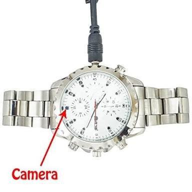 Galaxy star Electronics 1080 Hd Steel Wrist Watch Hidden Camera with Video/Audio Recording spy Watch