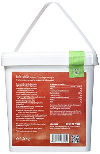 Xucker Premium 4,5kg kalorienreduzierte Zuckeralternative Xylit - Birkenzucker - aus Finnland - vegan, glutenfrei, nachhaltig - Xylit Süßen