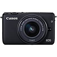 Canon EOS M10 Systemkamera (18 Megapixel, 7,5 cm (3 Zoll) Display, STM, WLAN, NFC, 1080p, Full HD) Kit mit EF-M 15-45mm IS schwarz