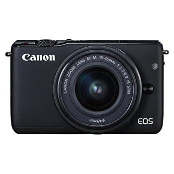 Canon EOS M10 - Cámara compacta con objetivo EF 15-45 mm (f/3,5-6,3 IS STM, CMOS de 22,3 x 14,9 mm, DIGIC 6, AF CMOS Híbrido, 1-18 EV, a 23 °C, 100 ISO) negro