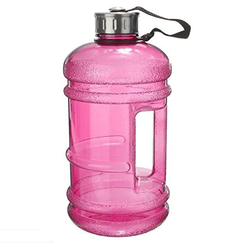 icase4u 2.2L BPA Free Sport Water Bottle Durable & Extra Strong Stainless Steel Cap Sport Gym Training Drink Water Bottle (pink) (Misc.)