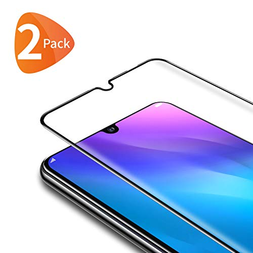 Bewahly Panzerglas Schutzfolie für Huawei P Smart 2019 / Honor 10 Lite [2 Stück], 3D Curved Full Cover Panzerglasfolie HD Displayschutzfolie 9H Glas Folie für P Smart 2019 / Honor 10 Lite - Schwarz (Smart 3d)