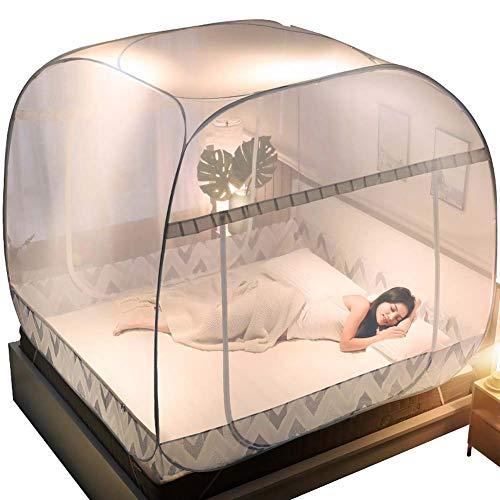 Yx-outdoor Mosquitera Grande emergente, con múltiples tamaños para Envolver Toda la Cama de Estructura de Alambre de Acero Revestido de plástico, Anti-Mosquitos, Dormitorio Decorativo,color9,1.8m