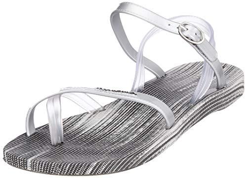 Ipanema Damen Fashion Sand VI FEM Slingback Sandalen, Mehrfarbig (Grey/Silver 8459), 40 EU