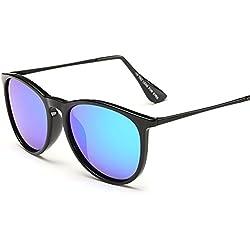 AMZTM Ultra-Licht TR90 Rahmen Retro Polarisiert Verspiegelt Sonnenbrille Damen und Herren