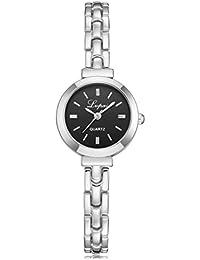 Relojes de Mujer Plateado 2018 Reloj de Pulsera de Cuarzo de Acero Inoxidable por ESAILQ