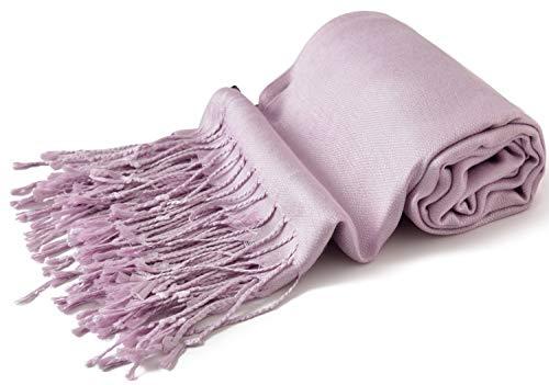Lila Diseño Sólido Color Chal Pashmina Abrigo de la Bufanda de la Estola CJ Apparel NUEVO