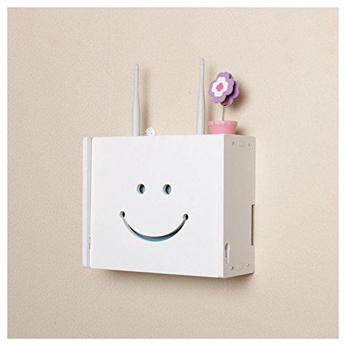 Tamaño pequeño soporte de pared router wifi cajas de almacenamiento estante, Blanco,...