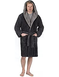 bed39377801 MICHAEL PAUL Men s Hooded Soft   Cosy Snuggle Fleece Dressing Gown