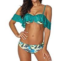 Luckycat Mujeres Lindo Traje de baño Correa Traje de baño Top Flounce Bikini