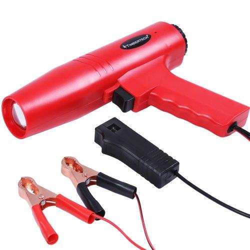 Timbertech Stroboskoplampe Zündlichtpistole Blitzpistole für PKW und Motorrad Zündzeitpunkt Einstelllampe Test