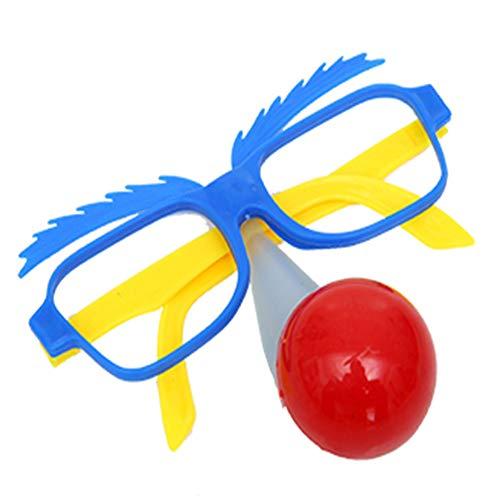 WMYY Leuchtende Brille Der Kindnase Lustig Niedlich Halloween Clown Brille Streich Rollenspiel Tanzparty Party-Augen-Dekoration,002