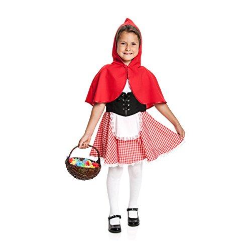 Kostümplanet® Rotkäppchen Kostüm Kinder Rotkäppchenkostüm Kinderkostüm Größe 104 (Erstaunlich Kostüm Mädchen)