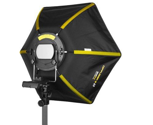 SMDV Speedbox-60 II Hexagon Softbox 60 cm für System- / Aufsteckblitzgeräte mit Streben aus Stahl