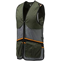 Beretta–Chaleco de Tiro Full Malla Vest Ton palomas Trap Skeet Competición Verano Chaleco, color verde oliva, tamaño medium
