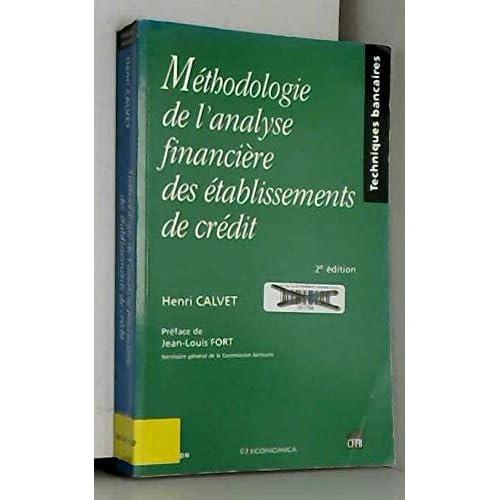 Méthodologie de l'analyse financière des établissements de crédit