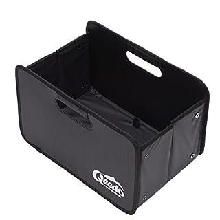 Qeedo Quick Case 25l Faltbox faltbare Kofferraumtasche & Klappbox mit verstärkter Bodenplatte (inkl. Reflector-Logo)