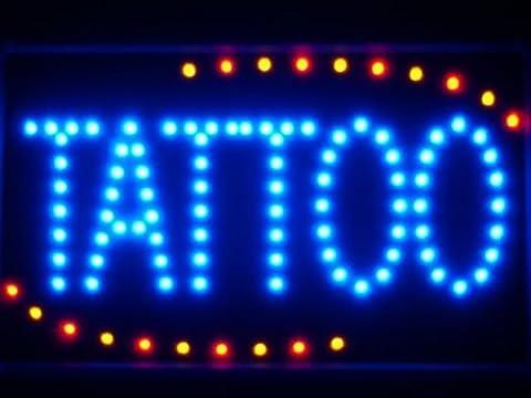 LAMPE NEON ENSEIGNE LUMINEUSE LED led007-b Tattoo Ship OPEN LED Neon Business Light Sign