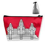 Trapez Make-up Taschen Flagge Karte Kambodscha Kosmetiktasche Kulturbeutel Portable Travel Wash Bag