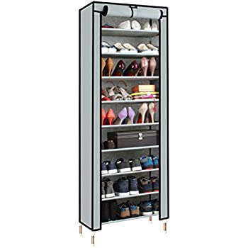 Acorn Fort S203 10 Tiers Shoe Cabinet Tower Storage Organizer Shoe Rack  Stand 58 X 28 X 170cm With Oxford Fabric Dustproof Cover Hold Up To 30  Pairs Shoes ... Part 71