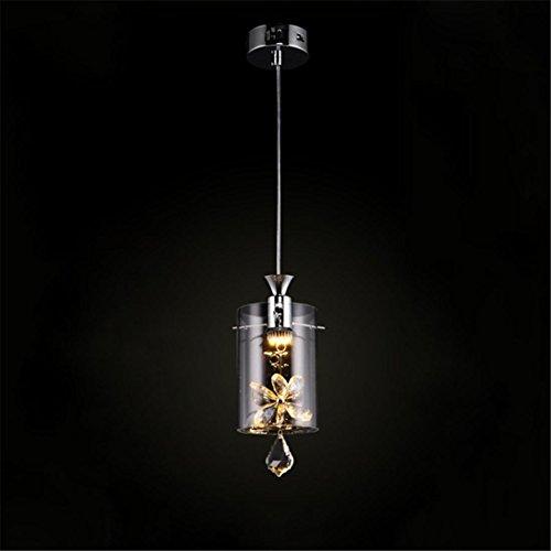 Modern Kristall LED Deckenleuchte, Verschiedene Glas Zylinder Anhänger Schatten Kronleuchter Drinnen Schlafzimmer Wohnzimmer Deckenbeleuchtung Restaurant Dekoration Lampe, 1 lamp -
