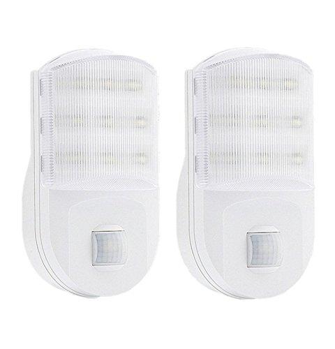 ledemain-2-pack-super-bright-plug-in-pir-motion-sensor-hallway-living-aid-safety-led-night-light