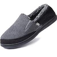 Zigzagger herr stängd rygg ullliknande blandning elastiska inlägg tofflor inomhus utomhus hus skor