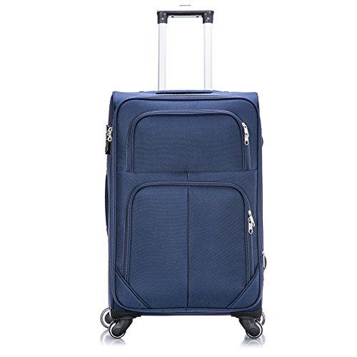 WOLTU® RK4215kk-XL-a , Reisekoffer Trolley 4 Rollen Stoff Weichschale , Reise Koffer 1200D Oxford Weichgepäck , Reisegepäck Handgepäck M / L / XL / Set , leicht günstig , Khaki (XL, 76 cm & 110 Liter) Blau