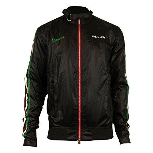 mens-adidas-originals-vespa-driving-jacket-retro-polyester-coat-black-o55595-xs