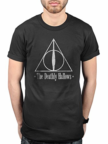 Official Harry Potter The Deathly Hallows T-Shirt British J.K. Rowling Book