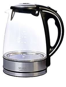 Evatronic - 000114 - Bouilloire sans fil en verre 1.7l 2000w