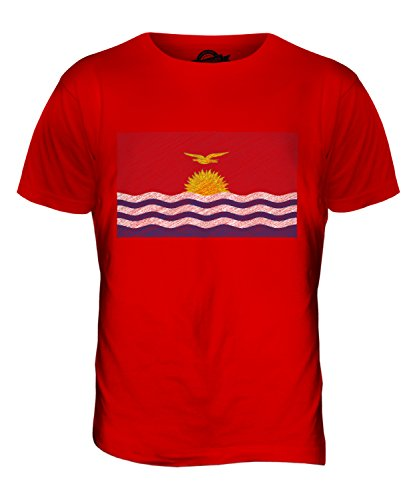 CandyMix Kiribati Kritzelte Flagge Herren T Shirt Rot