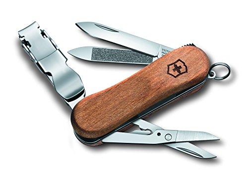 Victorinox Taschenmesser Nail Clip Wood 580 (6 Funktionen, Nagelknipser, Reddot Award 2016) nussbaumholz B1