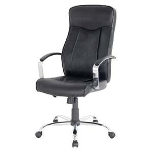 Niceday Hudson cuir chaise de bureau en noir