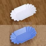 White & Blue Coffee Cupping Sample Tray Oval for Green Roasted Coffee Beans