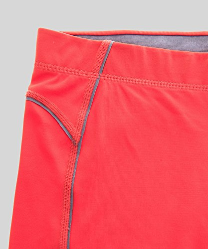 SYROKAN Damen Leggings Sport Strumpfhose - Capri Pants Laufenhose Magenta