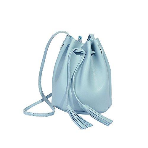 Liebe Kindertasche BV4Damenmode Quaste hohe Kapazität Eimer Tasche Umhängetasche Messenger Bag BU Umhängetasche Dame Handtaschen-Organisator SchultertascheDame