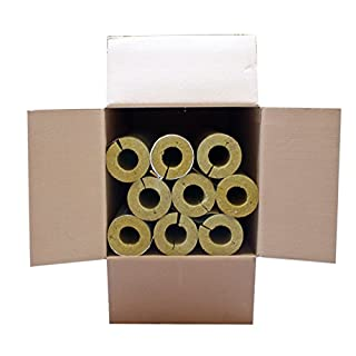 Austroflex Karton 4m Steinwolle Rohrschale alukaschiert 54 mm x 56 mm 100% EnEV Mineralwolle Rohrisolierung Astratherm Steinwoll-Rohrschalen
