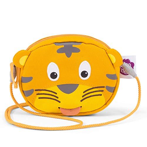Affenzahn Portmonee für Kindergartenkinder im Alter von 1-5 Jahren mit Ziehzunge als Namensschild für Mädchen und Jungen Timmy Tiger - Gelb