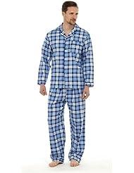 Socks Uwear Mens 100% Coton Brosséà carreaux pyjama pyjama vêtement de détente