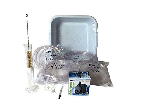 UNICOBRES Zubehörset für Destillen bis 3 Liter ❁ Kühlwasser-Set mit Pumpe ❁ für eine perfekte Destillation 3 Liter Set