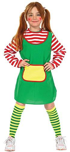 (KarnevalsTeufel Kinderkostüm Karlinchen in grün mit rot-weiß geringelten Ärmeln, Göre (140))