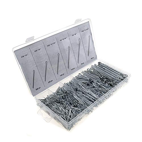 ENET Splint-Sortiment, 1000 Stück, 6 Größen, Stahl (Pin Cotter 1 1/2)