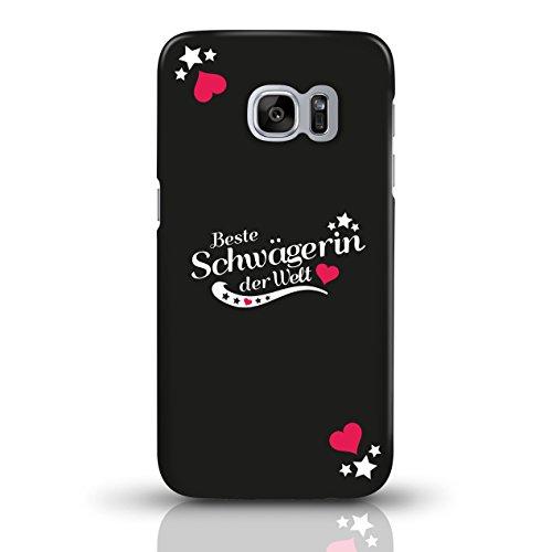 """JUNIWORDS Handyhüllen Slim Case für Samsung Galaxy S7 mit Schriftzug """"Beste Schwägerin der Welt"""" - ideales Weihnachtsgeschenk für die Schwägerin - Motiv 4 - Handyhülle, Handycase, Handyschale, Schutzh motiv 1"""