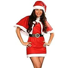 Alsino Sexy X-mas Outfit Weihnachtskostüm mit Cape 4teilig 75
