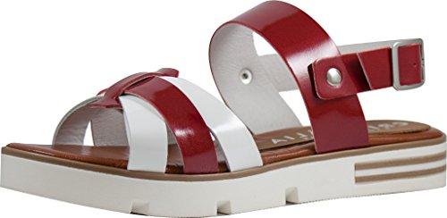 Sandali in pelle MADE IN ITALY. Direttamente dal produttore. rosso, bianco