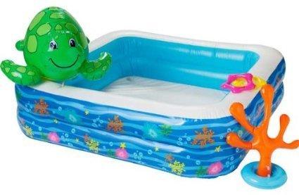 Hohe Qualität Chad Valley Kinder Pool Set mit Spray Schildkröte.