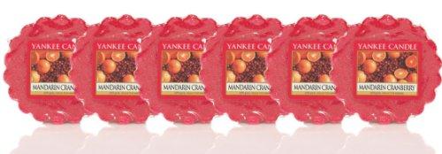 YANKEE CANDLE 6x Duftwachstörtchen schmilzt (Mandarin Cranberry) -